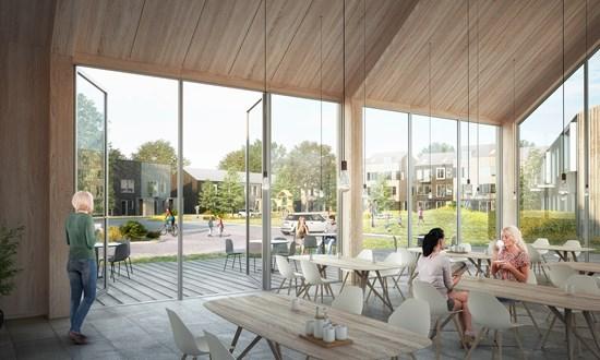 Sjællandske beboere får sundt byggeri i massivt træ - Boligselskabet ...